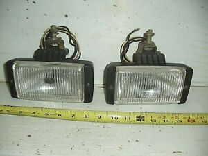 Vintage Pair Bosch Fog Driving Lights Bracket 1970s 1980 Mercedes Jaguar Porsche