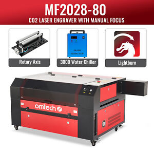 Omtech 100w 35x24in Co2 Laser Engraver Cutter With Water Chiller Rotary Axis A