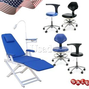 Dental Portable Mobile Chair With Led Light Folding Unit Chair mobile Chair Usa