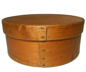Early Mid 19th C New England Antique Primitive Bentwood Pine 6 5 Pantry Box