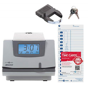 Pyramid Time Systems Model 3500 Multi purpose Time Clock And Document Stamp 25