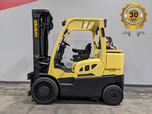 2016 Hyster S135ft 13500lb Smooth Cushion Forklift Lpg Lift Truck Hi Lo 8327