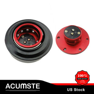 Universal Red Bearing 6 bolt Car Steering Wheel Quick Release Hub Adapter Kit