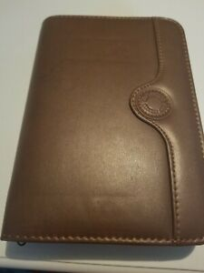Day Runner Fact Centre Planner organizer 6 Ring 6 X8 Brown Faux Leather
