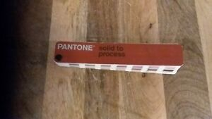 Pantone Color Formula Guide Solid To Process Very Good Condition