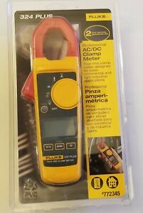 Fluke 324 Plus Professional Ac dc Clamp Meter 772345 new Factory Sealed