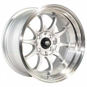 4 new 15 Mst Mt11 Wheels 15x8 4x100 4x114 3 0 Silver Rims 73 1