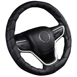 Classic Grip Synthetic Leather Old School Wrap Steering Wheel Cover 13 5 14 4