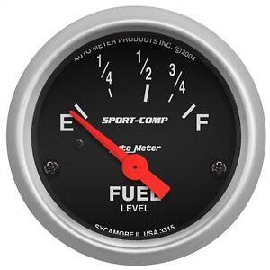 Autometer 3315 Sport comp Electric Fuel Level Gauge