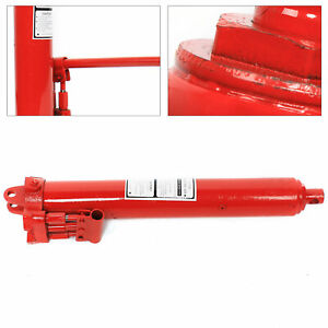 8 Ton Long Ram Hydraulic Jack Auto Engine Piston Dual Pump Lift Hand Tool