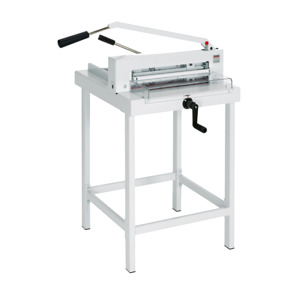 Mbm Cu0450l Triumph 4305 Manual Tabletop Cutter With Spindle guided Back Gauge