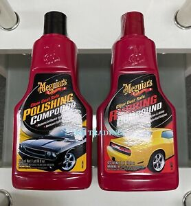 2 packs Meguiar s Auto Car Polish Rubbing Compound Combo safe On All Finish