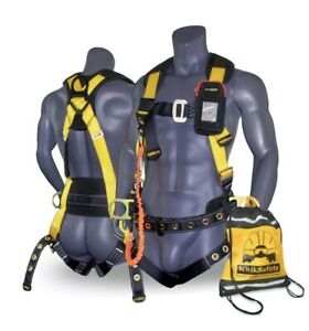 Kwiksafety Typhoon Safety Harness Ansi Fall Protection 3d Ring With Back Support