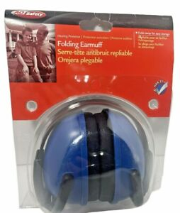 New Ao Safety Folding Earmuffs Protector Blue Free Shipping