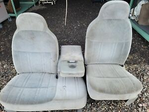 1997 1998 Ford F150 Pick Up Truck 60 40 Split Bench Seat Gray Driver Power