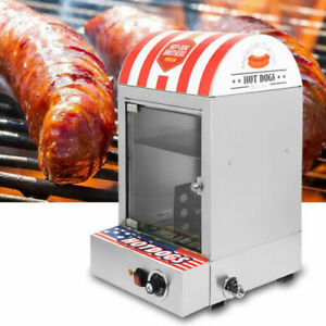 1500w Commercial Hot Dog Roller Cooker Machine Electric Food Bun Steamer 30 110