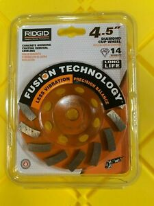 Ridgid 4 5 Concrete Grinding Coating Removal Leveling Diamond Cup Wheel Taw45p1