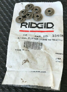 Ridgid Lot Of 7 1240 Replacement Wheels Cutters Usa