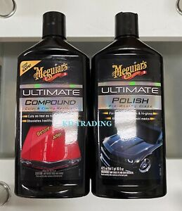 2 pack Meguiar s Car Ultimate Compound Polish Combo Waxing Glaze Max Gloss