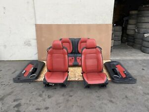 Ford Mustang Gt Coupe 2015 2021 Oem Front Rear Seats Door Panels set Red 62k
