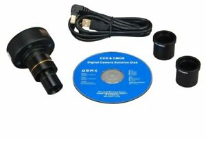 Omax 5 Mega Pixel Digital Usb Microscope Camera W Software And Calibration Slide