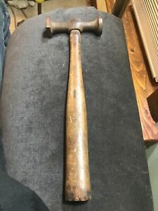 Vintage Fairmount Auto Body Hammer Marked 161 G 237 Round Square Heads Used
