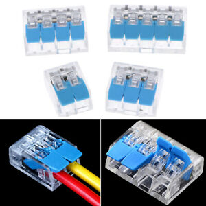 20pcs Fast Wire Connectors Compact Wiring Connector Push in Terminal Block q