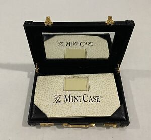 Mini Case 4 Leather Briefcase Business Card Holder With Mirror Warranty Card