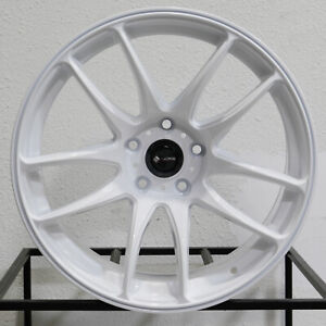 4 New 18 Vors Tr4 Wheels 18x9 5 5x112 22 White Rims 73 1