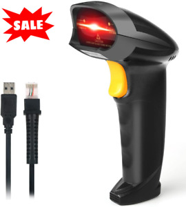 Handheld Usb Barcode Scanner Wired Automatic 1d Bar Code Reader Store Warehouse