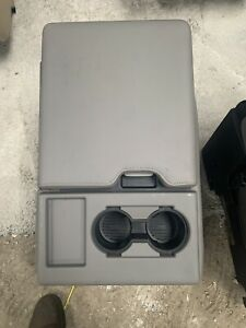 2015 2019 Ford F150 Center Jump Seat Console Gray Vinyl Oem New Nice F250