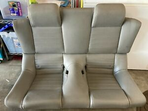 2005 2009 Oem Ford Mustang Convertible Gt Rear Grey Leather Back Seats Look