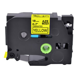 1pk Tz641 Black On Yellow Label Tape For Brother P touch Pt 1890 Pt 9200 Tze 641