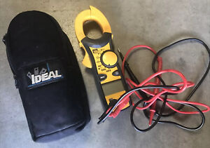Ideal Electrical 61 744 Clamp Voltage Ac Clamp Meter 600 Amp With Leads