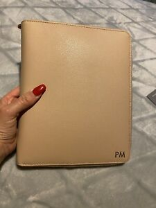 Kikki K Leather Personal Zip Planner Large A5 Latte