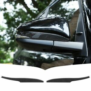 Carbon Fiber Rearview Mirror Molding Cover Trim Fits Toyota 4runner 2010 2021