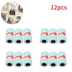 12 Rolls Sticker Thermal Paper 57mm X 30mm Self adhesive Thermal Printer For