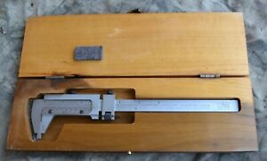 Scherr Tumico No 16 0170 21 Vernier Caliper In Wood Case Used