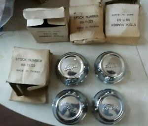Nos Vintage 4 Lot Ford Truck Axle Wheel Hub Grease Cap Dust Cover Hubcap