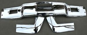 X Lincoln Continental New Triple Plated Chrome Front Bumper 1966 1967 66 67 Oem