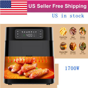 1700w Air Fryer 5 8qt Touch Screen Digital Led Oilless Non stick Electric Oven