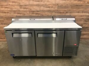 2018 Turbo Air Tpr 67sd n Section 2 door Refrigerated Pizza Prep Table 115 V