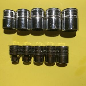 Snap On 10pc Fm Series 3 8 Drive Metric Short Sockets 2013