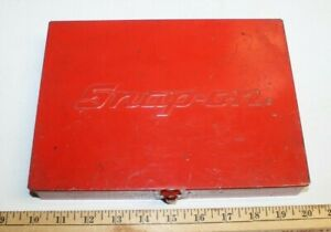 Snap On Tools Usa Small Red Metal Storage Box Usa