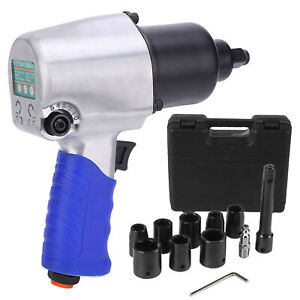 Kp509 1 2 Drive Air Impact Wrench With 8 Sockets 1 Extension Bar Air Tool