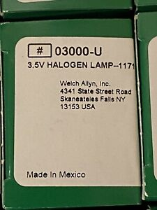 New Welch Allyn Genuine 03000 u Replacement 3 5v Halogen Bulbs For 11710