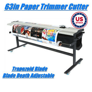 Us Stock 63in Manual Adjustabl Paper Kt Board Trimmer Cutter With Support Stand