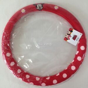 Authentic Disney Mickey Minnie Mouse Car Accessories Plush Steering Wheel Cover