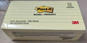 Post it Notes 630ss 3 In X 3 In 7 62 Cm X 7 62 Cm Canary Yellow Lined