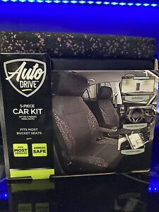 Car Seat Covers Universal 5 Piece Set Brand New Black Rose Gold